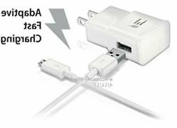 10FT Micro USB Cable + Adaptive Fast Charge Wall Adapter Rap