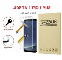 2-Pack Full Cover Tempered Glass Protector F Samsung Galaxy