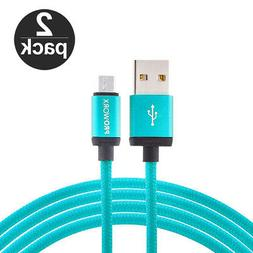 2X Baby Blue 10ft Long Charger Cable for Samsung Galaxy S7 E