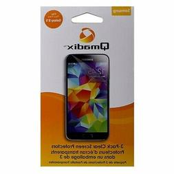Qmadix 3 Pack of Clear Screen Protectors for Samsung Galaxy