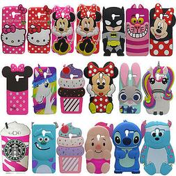 3D Cartoon Soft Silicone Phone Case For iPhone 5 SE Samsung