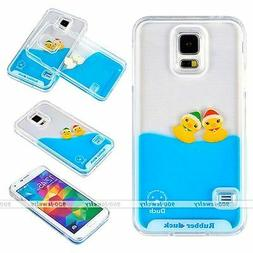 3D Moving Liquid Water Yellow Ducks Phone Case Cover Fits Sa