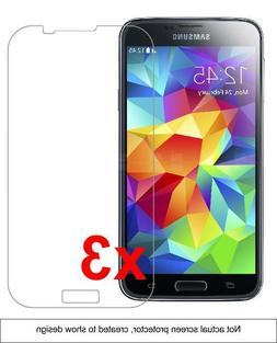 3x Samsung Galaxy S5 Screen Protector w/ cloth