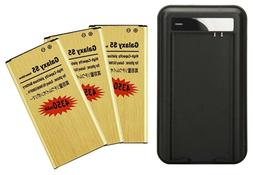 4350mAh High-Capacity Gold Battery / Charger for SamSung Gal