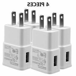4x USB AC Wall Power Adapter Travel Chargers for Samsung Gal