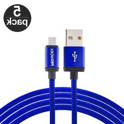 5X Blue 10ft Long USB Charger Cable for Samsung Galaxy S7 Ed