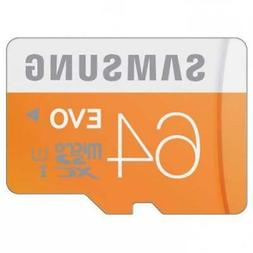 SAMSUNG 64GB MICRO SDXC MEMORY CARD HIGH SPEED EVO CLASS 10