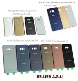 Battery Cover Back Glass Door For Samsung Galaxy S6 S7 Edge