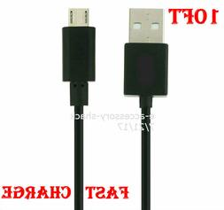 Black 10FT OEM Fast Charge Micro USB Cable Rapid Charging Sy