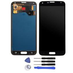 Black For Samsung Galaxy S5 i9600 G900A LCD Screen Replaceme