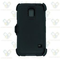 Black for Samsung Galaxy S5 Defender Case w/ Belt Clip fits