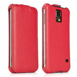 BoxWave Galaxy S5 Leather Veritcal Flip Case, Leather Cover