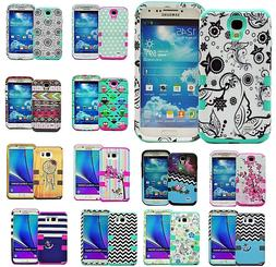 For Samsung Galaxy S3 S4 S5 S6 S7 - HYBRID RUBBER SKIN ARMOR