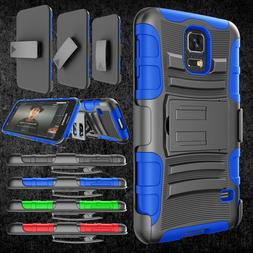 For Samsung Galaxy S5 Armor Refined Phone Cover + Belt Clip