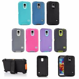 For Samsung Galaxy S5 Defender Rugged ShockProof Case Screen