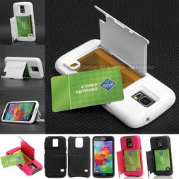 For Samsung Galaxy S5 -Hidden Credit/ID Card Holder Flip Sta