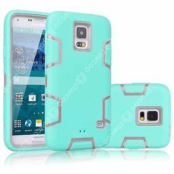 For Samsung Galaxy S5 I9600 Shockproof PC Hybrid Rubber Defe