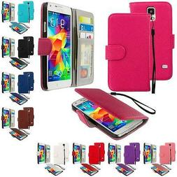 For Samsung Galaxy S5 Leather Wallet Leather Pouch Case Cove