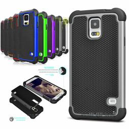 For Samsung Galaxy S5 S3 Shockproof Armor Rugged Rubber PC H