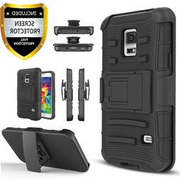 For Samsung Galaxy S5 / S5 Active Case,Belt Clip Cover+Tempe