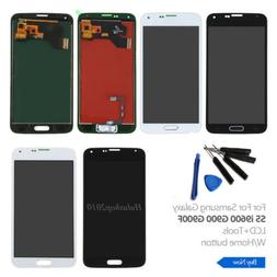 For Samsung Galaxy S5 i9600 G900 G900F  LCD Touch Screen Rep