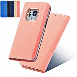 For Samsung Galaxy S9 S8 Plus Note 8 5 A8 Jeans Style Leathe
