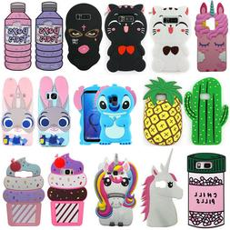 For Samsung Note8/5/4 S9/8/6/7/8 Plus Cartoon Case Cute 3D S