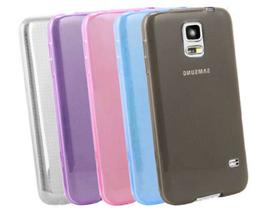 Galaxy S5 MINI Slim Thin Clear Silicone Gel Soft Case Cover