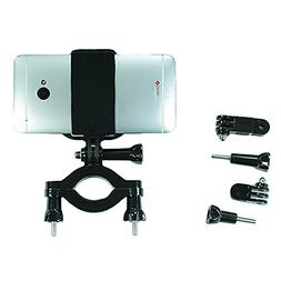 Gopro Style Roll Bar Mount with Action Mount Adapter for Sma