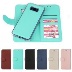 Leather Removable Wallet Magnetic Flip Card Case Cover for S