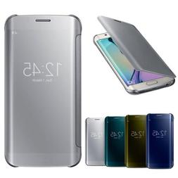 Luxury Mirror Flip Smart Case Cover For Samsung Galaxy S6 /S