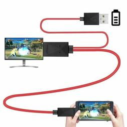MHL Micro Usb 2.0 To Hdmi Cable Adapter 1080p Hdtv For Samsu