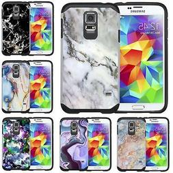 Marble Design Slim Hybrid Case Cover for Samsung Galaxy S5 /