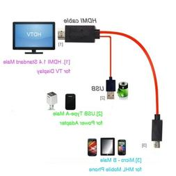 Micro USB to HDMI 1080P HDTV Cable MHL Adapter for Samsung G