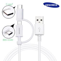 OEM Micro USB & Type-C 2in1 Cable For Samsung Galaxy S9 S8 S