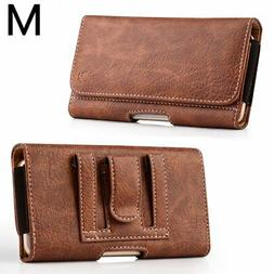 SAMSUNG GALAXY S5 / S6 / S7  - Brown Leather Pouch Holder Be