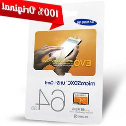 Samsung 64 GB Micro SD Memory Card Ultra Fast Class10 for Ca