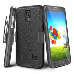 Samsung Galaxy S5 Belt Clip Holster Combo Cell Phone Case Wi