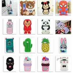 3D Cartoon Soft Silicone Rubber Case For Samsung S9+ S6/7 ed
