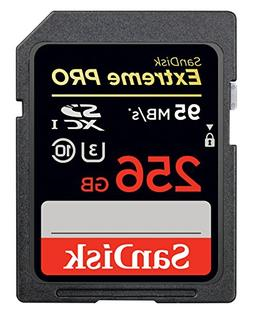SanDisk Extreme PRO 256GB up to 95MB/s UHS-I/U3 SDXC Flash M
