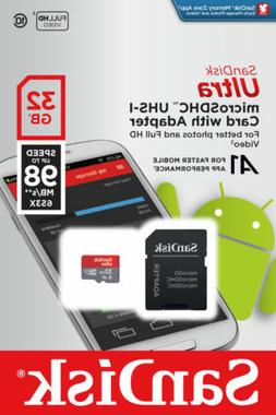 SanDisk Ultra 32GB 32G A1 Micro SD SDHC TF Card 98MB/s SDHC