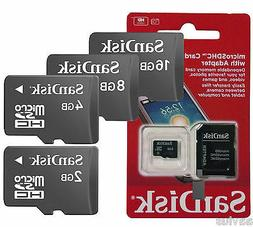 Sandisk MicroSD Flash Fast Storage Memory Card w/SD Adapter