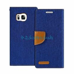 Shock Resistant Flip Jean PU Wallet Case Stand  for Galaxy S