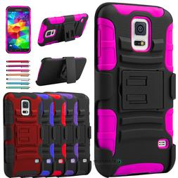 ShockProof Armor Heavy Duty Kickstand Belt Clip Case Cover f