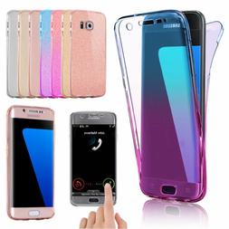 Shockproof 360° Silicone Clear Case Cover For Samsung Galax