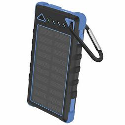 Solar Powered 8000mAh Outdoor Portable Powerbank With LED Fl