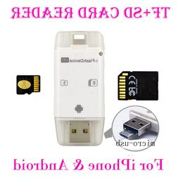 USB Flash Drive SD TF Card Reader For iPhone 8 7 6S 6 Plus 5