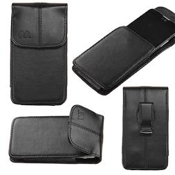 Universal Black Leather Carry Pouch Sleeve Case Cover Secure