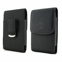 Vertical Leather Belt Case Clip Holster Pouch Sleeve For App