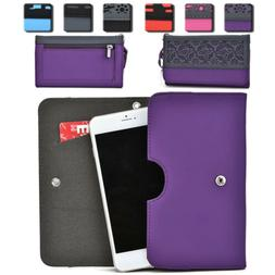 Womens Protective Wallet Case Cover for Smart Cell Phones by